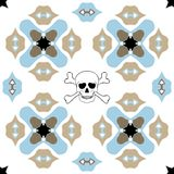 Seamless ornate pattern with skull design Stock Photography