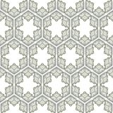 Seamless ornate pattern with star shapes Stock Image