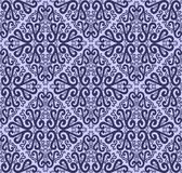 Seamless ornate Pattern with Swirls in blue Colors Royalty Free Stock Photography