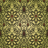 Seamless Ornate Pattern (Vector) Royalty Free Stock Photo