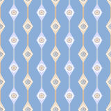 Seamless ornate simple floral pattern with geometric elements ba Royalty Free Stock Photography