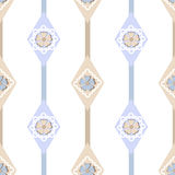 Seamless ornate simple floral pattern with geometric elements ba Royalty Free Stock Photo