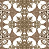 Seamless ornate texture or pattern in brown 2 Royalty Free Stock Images