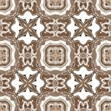 Seamless ornate texture or pattern in brown Stock Photography