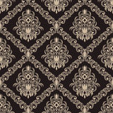 Seamless  ornate Wallpaper for design Royalty Free Stock Images