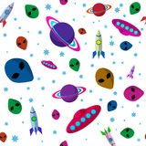 Seamless outer space background Royalty Free Stock Photography