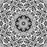 Seamless outline floral pattern Stock Images