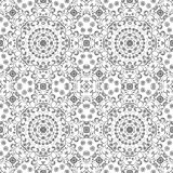 Seamless outline floral pattern Stock Photography