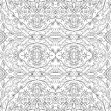 Seamless outline floral pattern Royalty Free Stock Images