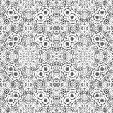 Seamless outline floral pattern Stock Photo