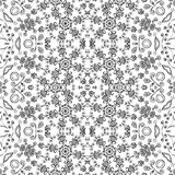 Seamless outline floral pattern Stock Photos
