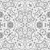 Seamless outline floral pattern Stock Image