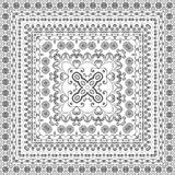 Seamless Outline Floral Pattern Royalty Free Stock Image
