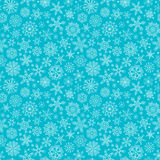 Seamless outlined snowflakes pattern. Stock Photography