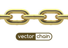 Seamless oval link chain Royalty Free Stock Photo