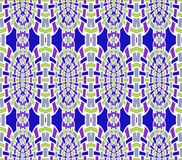 Seamless oval mosaic pattern purple green gray blue white Stock Photos