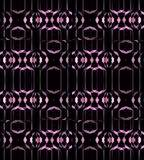Seamless oval ornaments with stripes vertically pink violet gray black Stock Photos