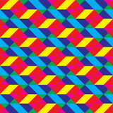 Seamless Overlaid Cmyk Polygonal Shapes Pattern Royalty Free Stock Photo