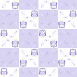 Seamless owl background patten for kids Stock Image