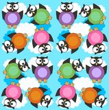 Seamless owl pattern. Illustration of a colourful seamless owl pattern Royalty Free Stock Image