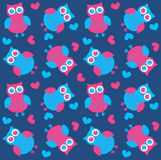 Seamless owl pattern Stock Photo