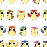 Seamless owl pattern Royalty Free Stock Image
