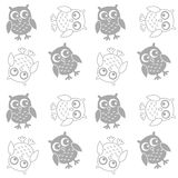 Seamless owl pattern background Royalty Free Stock Image