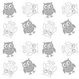 Seamless owl pattern background. Seamless owl pattern Royalty Free Stock Image
