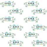 Seamless owl pattern Stock Photography