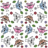 Seamless owl pattern.  Stock Images
