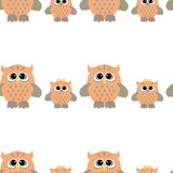 Seamless owl pattern. Seamless pattern with nice colorful owl bird Royalty Free Stock Photo