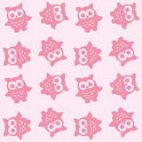 Seamless owl pattern Stock Images