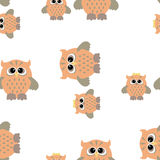 Seamless owl pattern. Vector seamless pattern with nice colorful owl Stock Image