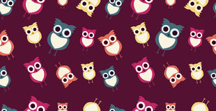 seamless_owl_texture Royalty Free Stock Images