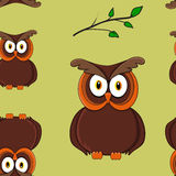 seamless owlmodell vektor illustrationer