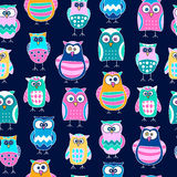 seamless owlmodell Arkivbild
