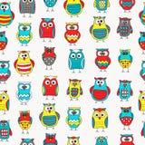 seamless owlmodell Arkivbilder