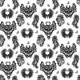 seamless owls royaltyfri illustrationer