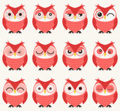 Seamless owls pattern Stock Image