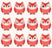 Seamless owls pattern. Seamless cute cartoon owls pattern Royalty Free Illustration