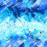 Seamless painted blue paint Royalty Free Stock Photography