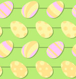 Seamless Painted Easter Egg Vector Patten Royalty Free Stock Photo
