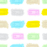The seamless painted gamepads Stock Images