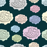 The seamless painted palettes Royalty Free Stock Image