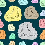 Seamless painted skates Stock Images