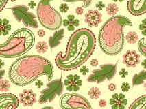 seamless paisley royaltyfri illustrationer