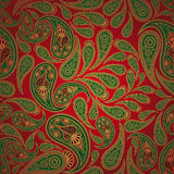 Seamless paisley background Royalty Free Stock Images