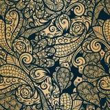 Seamless paisley background Stock Image