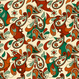 seamless paisley background Stock Images