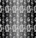 Seamless paisley background Stock Photography